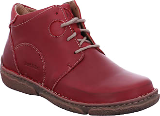 Josef Seibel Women Ankle Boots Neele 46, Ladies Lace-up Ankle Boot, Boots,Half Boots,Laced Bootie,Red(Hibiscus),37 EU / 4 UK