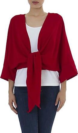 Novica Cotton bolero jacket, Chamela Crimson