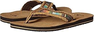 Sanuk Fraid So (Tan Multi) Mens Toe Open Shoes