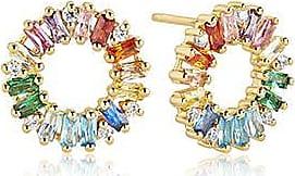 Sif Jakobs Jewellery Ohrringe Antella Circolo- 18K vergoldet mit bunten Zirkonia
