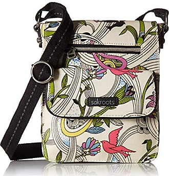 Sakroots Artist Circle Small Flap Messenger, White Peace Dove