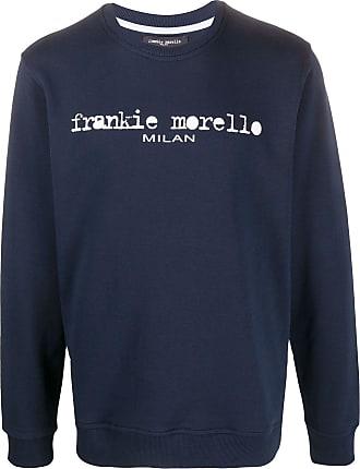 Frankie Morello Moletom decote careca com estampa de logo - Azul
