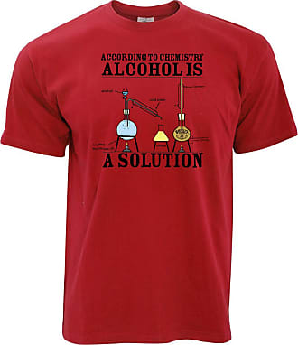 Tim And Ted Nerd T Shirt According to Chemisty Alcohols A Solution - (Red/XXXXX-Large)