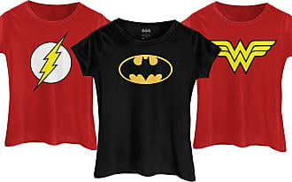 DC Comics Combo Camisetas Heroínas Mulher Maravilha + Batgirl + Flash (M)