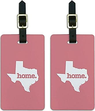Graphics & More Graphics & More Texas Tx Home State Luggage Suitcase Id Tags-Solid Salmon Pink, White