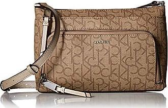 609c12ad96 Calvin Klein Hudson Top Zip Signature Crossbody, Buck Wheat