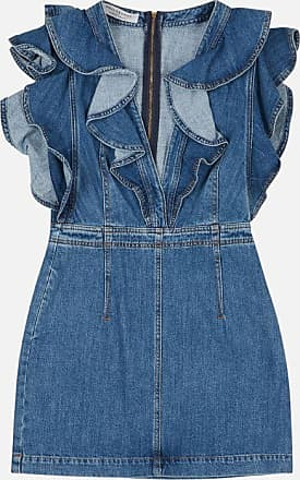 Philosophy di Lorenzo Serafini Denim dress with frill detail
