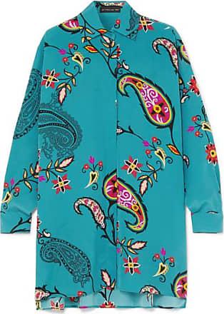 e417480cef9136 Etro Printed Silk Crepe De Chine Shirt - Blue