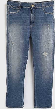 Sawary Calça Jeans Sawary Skinny Sevce Destroyed Azul