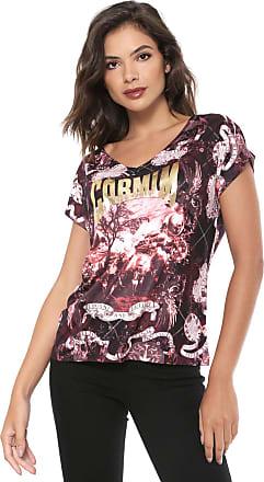 Carmim Camiseta Carmim Print Preta/Rosa