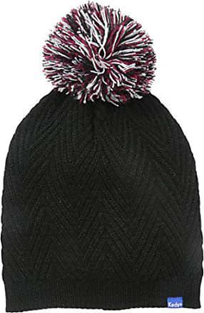 594aedfcf2c4a5 Keds Womens Herringbone Knit Pom Beanie, Black, One Size