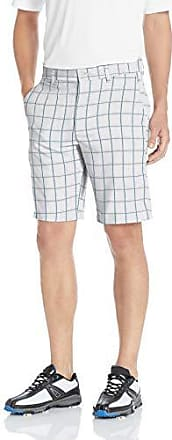 PGA TOUR Short court imprimé devant pour hommes, Heather Grid Bright White, 32