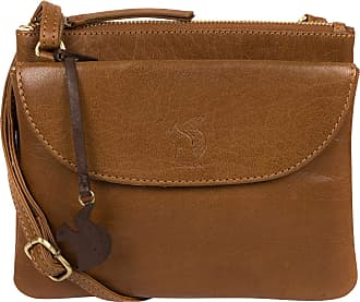 Pure Luxuries London Conkca London Tillie Womens 22cm Biodegradable Leather Cross Body Bag with Zip Over Top, 100% Cotton Lining and Adjustable Slimline Leather Strap in D
