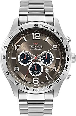 Technos Relógio Technos Masculino Esportivo Grandtech Prateado JS25CG/1C