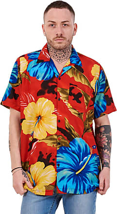 JD Williams Mens Hawaiian Shirt Multi Colors Print Regular Big Size Summer Fancy Dress M-5XL