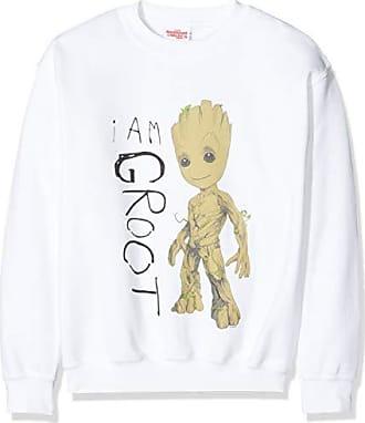 Black Blk Taglia Unica: 5-6Y Nero Marvel Guardians of The Galaxy Vol.2 I Am Groot Scribbles T-Shirt Bambina 5-6 Anni