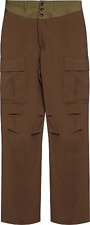 Lanvin Wide Leg Trousers Mens Brown