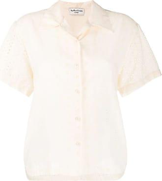 Ymc You Must Create Camisa com bordado inglês - Neutro