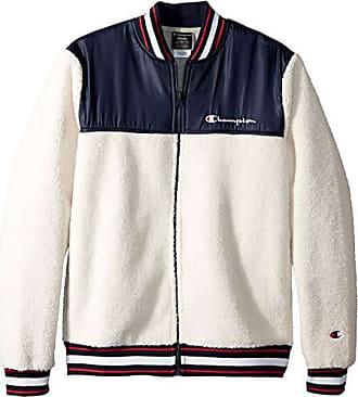 f5a4e674 Champion LIFE Mens Sherpa Baseball Jacket, Quartz Cream/Navy, X-Large