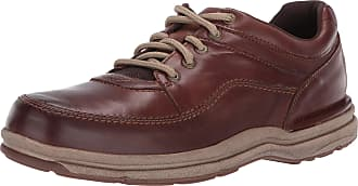 Rockport Mens World Tour Classic Oxford, Brown Leather, 10.5 X-Wide