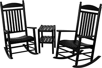 POLYWOOD Jefferson 3 pc. Recycled Plastic Rocker Set with Side Table