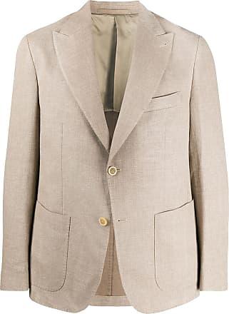 Eleventy single-breasted linen blazer - NEUTRALS
