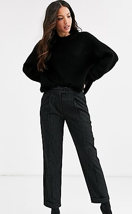 Y.A.S. Tall Savi crop tailolred trousers-Black