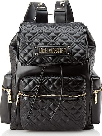 Love Moschino Jc4203pp0a Womens Backpack, Black (Black Quilted), 28x34x18 Centimeters (W x H x L)