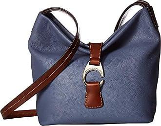 Dooney & Bourke Derby Crossbody Hobo (Steel Blue/Chestnut Trim) Hobo Handbags