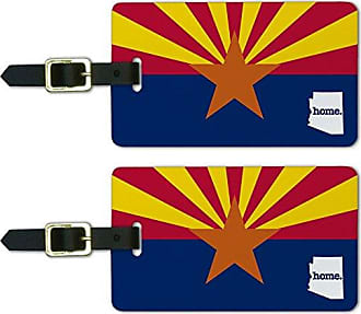 Graphics & More Graphics & More Arizona Az Home State Luggage Suitcase Id Tags-Flag, White