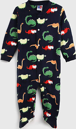 Tip Top Pijama Tip Top Longo Infantil Dinossauro Preto