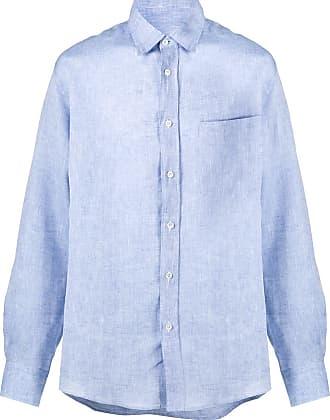 Missoni Camisa de linho com listras na lateral - Azul