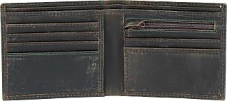 5b8981d3ef DuDu Portafoglio uomo vintage in vera pelle vissuta portamonete e carte con  zip DUDU Marrone scuro