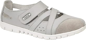 Boulevard Womens/Ladies Action Leather/Suede Shoes (6 UK) (Grey)