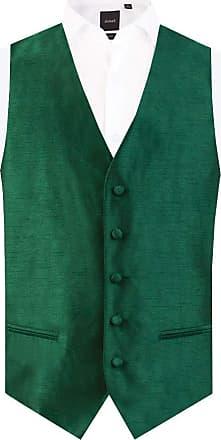 Dobell Mens Racing Green Waistcoat Regular Fit Dupion 5 Button-4XL (58-60in)