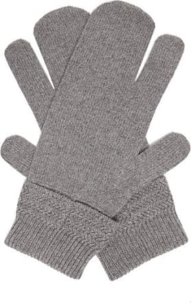 Maison Margiela Split Wool-blend Mittens - Mens - Dark Grey