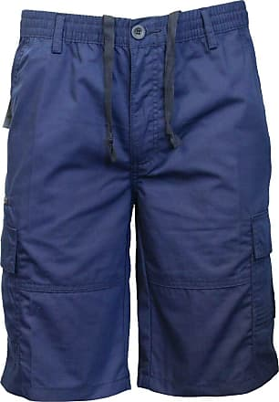 Saute Styles Mens Elasticated Waist Casual Bermuda Combat Cargo Shorts Work Summer Half Pants Size 2XL Blue