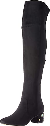 Katy Perry Womens The GEM-Suede/Stretch Lycra Over-The-Knee Boot, Black, 6.5 UK