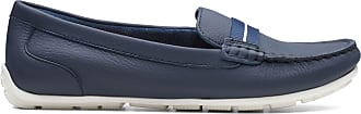 Clarks Womens Loafer Navy Leather Clarks Dameo Vine Size 9.5