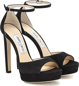 Jimmy Choo London Pattie 130 suede platform sandals