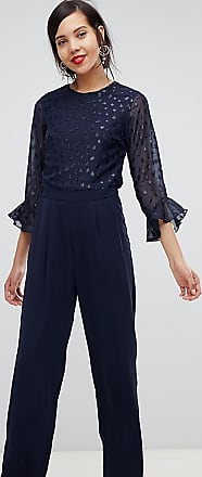 Y.A.S. Tall sheer dot jumpsuit-Navy