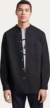 French Connection Overdyed Oxford Grandad Collar Shirt