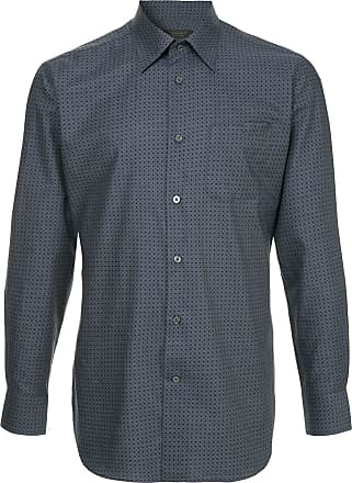 Durban Camisa com padronagem - Azul