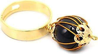 Tinna Jewelry Anel Dourado Ágata Fosca Trançada