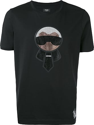 Fendi Camiseta Karlito - Preto