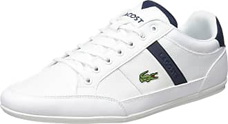 Lacoste Mens Chaymon 319 3 CMA Trainers, White (White/Navy 042), 12 UK