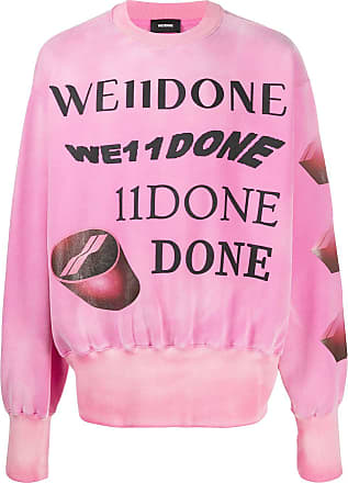We11done oversized graphic print jumper - PINK