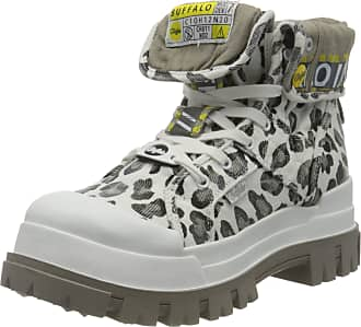 Buffalo Panthera Hi, Womens Combat Boots, Multicolour (Leopard White 000), 6.5 UK (40 EU)