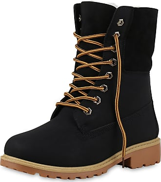 Scarpe Vita Women Bootee Worker Boots Warm Lined Tread Sole 165405 Black UK 7 EU 41