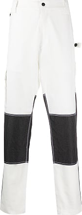 United Standard contrast panel trousers - White